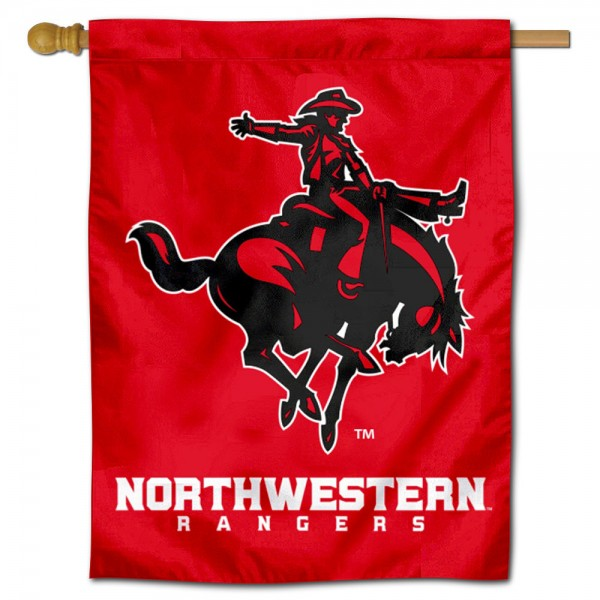 Northwestern Oklahoma State Rangers Double Sided House Flag is a vertical house flag which measures 30x40 inches, is made of 2 ply 100% polyester, offers screen printed NCAA team insignias, and has a top pole sleeve to hang vertically. Our Northwestern Oklahoma State Rangers Double Sided House Flag is officially licensed by the selected university and the NCAA.