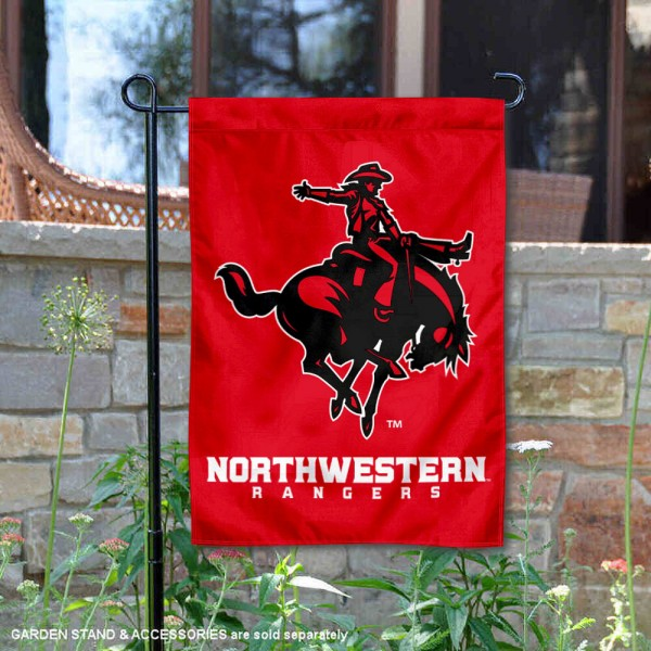 Northwestern Oklahoma State Rangers Garden Flag is 13x18 inches in size, is made of 2-layer polyester, screen printed university athletic logos and lettering, and is readable and viewable correctly on both sides. Available same day shipping, our Northwestern Oklahoma State Rangers Garden Flag is officially licensed and approved by the university and the NCAA.