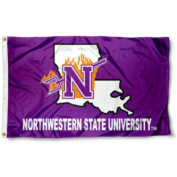 Northwestern State University Polyester Flag measures 3'x5', is made of 100% poly, has quadruple stitched sewing, two metal grommets, and has double sided Northwestern State University logos. Our Northwestern State University Polyester Flag is officially licensed by the selected university and the NCAA