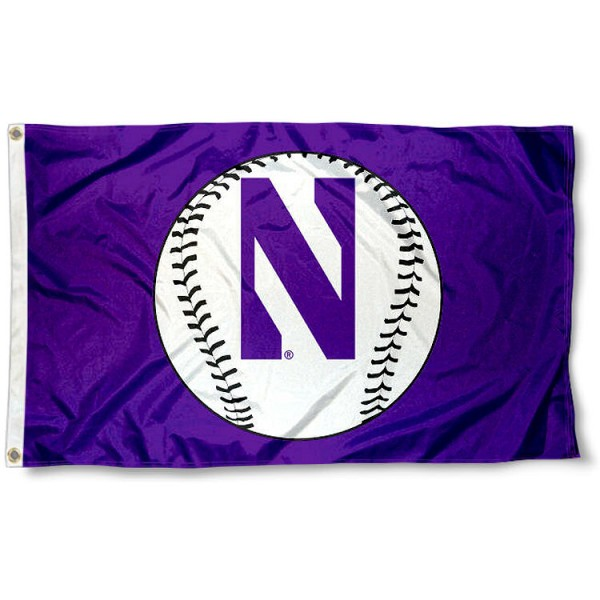 Northwestern University Baseball Flag measures 3'x5', is made of 100% poly, has quadruple stitched sewing, two metal grommets, and has double sided Team University logos. Our Northwestern University Baseball Flag is officially licensed by the selected university and the NCAA.