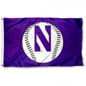 Northwestern University Baseball Flag