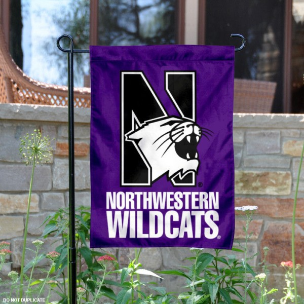 Northwestern University Garden Flag is 13x18 inches in size, is made of 2-layer polyester, screen printed Northwestern University athletic logos and lettering. Available with Same Day Express Shipping, Our Northwestern University Garden Flag is officially licensed and approved by Northwestern University and the NCAA.