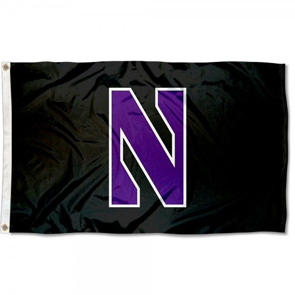 Northwestern Wildcats Black Flag measures 3x5 feet, is made of 100% polyester, offers quadruple stitched flyends, has two metal grommets, and offers screen printed NCAA team logos and insignias. Our Northwestern Wildcats Black Flag is officially licensed by the selected university and NCAA.