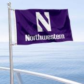 Northwestern Wildcats Boat and Mini Flag
