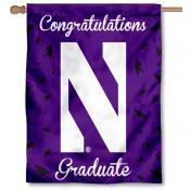 Northwestern Wildcats Congratulations Graduate Flag