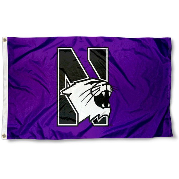 Northwestern Wildcats Flag measures 3x5 feet, is made of 100% polyester, offers quadruple stitched flyends, has two metal grommets, and offers screen printed NCAA team logos and insignias. Our Northwestern Wildcats Flag is officially licensed by the selected university and NCAA.