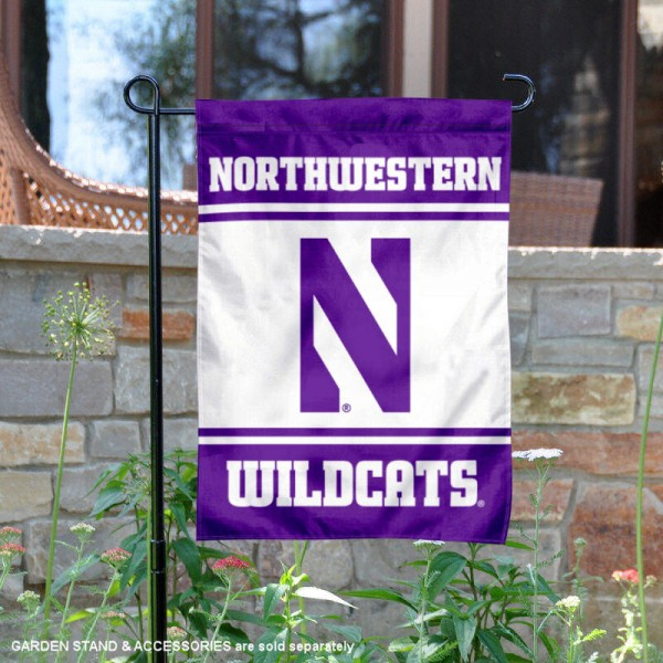Northwestern Wildcats Garden Flag is 13x18 inches in size, is made of 2-layer polyester, screen printed logos and lettering. Available with Same Day Express Shipping, Our Northwestern Wildcats Garden Flag is officially licensed and approved by the NCAA.