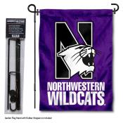 Northwestern Wildcats Garden Flag and Pole Stand