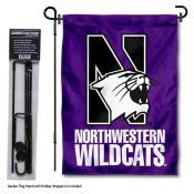 Northwestern Wildcats Garden Flag and Pole Stand