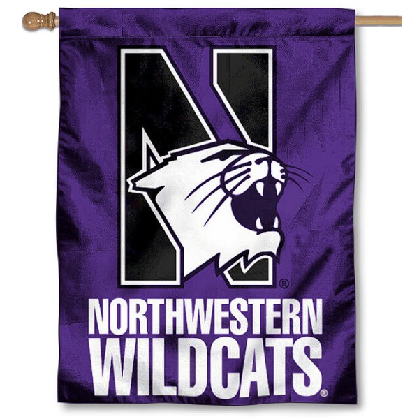 Northwestern Wildcats House Flag is a vertical house flag which measures 30x40 inches, is made of 2 ply 100% polyester, offers dye sublimated NCAA team insignias, and has a top pole sleeve to hang vertically. Our Northwestern Wildcats House Flag is officially licensed by the selected university and the NCAA