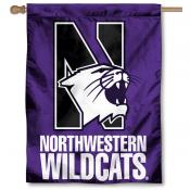 Northwestern Wildcats House Flag