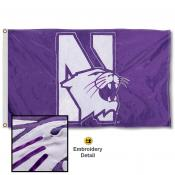 Northwestern Wildcats Nylon Embroidered Flag