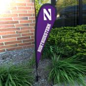 Northwestern Wildcats Small Feather Flag
