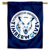 Northwood Timberwolves Logo Double Sided House Flag