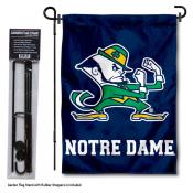 Notre Dame Garden Flag and Pole Stand Holder