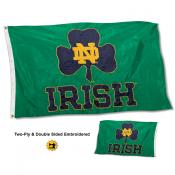 Notre Dame Irish Shamrock Nylon Embroidered Flag