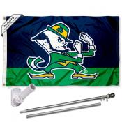 Notre Dame Leprechaun Flag Pole and Bracket Kit
