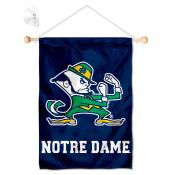Notre Dame Leprechaun Window and Wall Banner