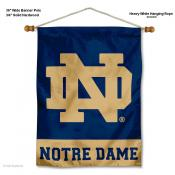Notre Dame ND Logo Wall Banner