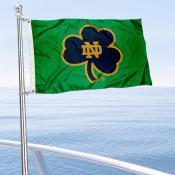 Notre Dame Shamrock Boat Flag