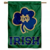 Notre Dame Shamrock Double Sided Banner