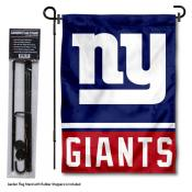 NY Giants Garden Flag and Stand