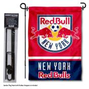 NY Red Bull Garden Flag and Flagpole Stand