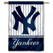 NY Yankees Double Sided House Flag