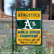 Oakland A's 9-Time World Series Champions Garden Flag