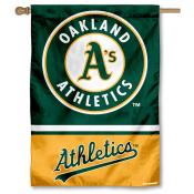Oakland A's Double Sided House Flag