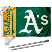 Oakland Athletics Flag Pole and Bracket Kit
