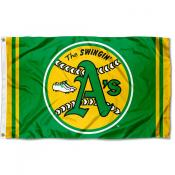 Oakland Athletics Retro Vintage Logo Flag