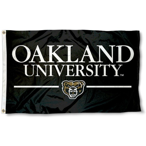 Oakland Grizzlies Wordmark Flag measures 3x5 feet, is made of 100% polyester, offers quadruple stitched flyends, has two metal grommets, and offers screen printed NCAA team logos and insignias. Our Oakland Grizzlies Wordmark Flag is officially licensed by the selected university and NCAA.