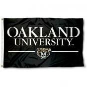 Oakland Grizzlies Wordmark Flag