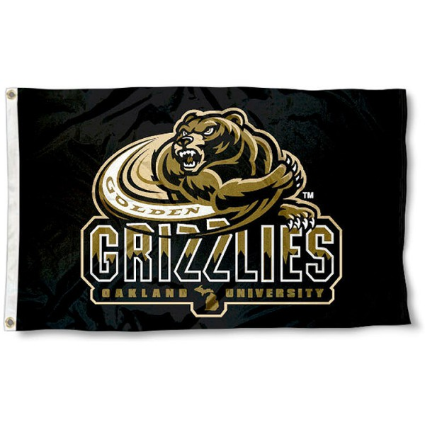Oakland University Grizzlies Flag