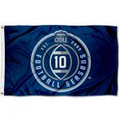 ODU Monarchs 10 Football Seasons Flag