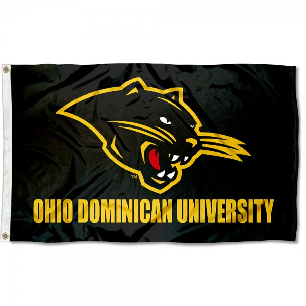 ODU Panthers Logo Flag measures 3x5 feet, is made of 100% polyester, offers quadruple stitched flyends, has two metal grommets, and offers screen printed NCAA team logos and insignias. Our ODU Panthers Logo Flag is officially licensed by the selected university and NCAA.