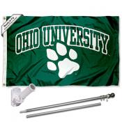 Ohio Bobcats Flag Pole and Bracket Kit