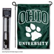 Ohio Bobcats Garden Flag and Pole Stand Mount