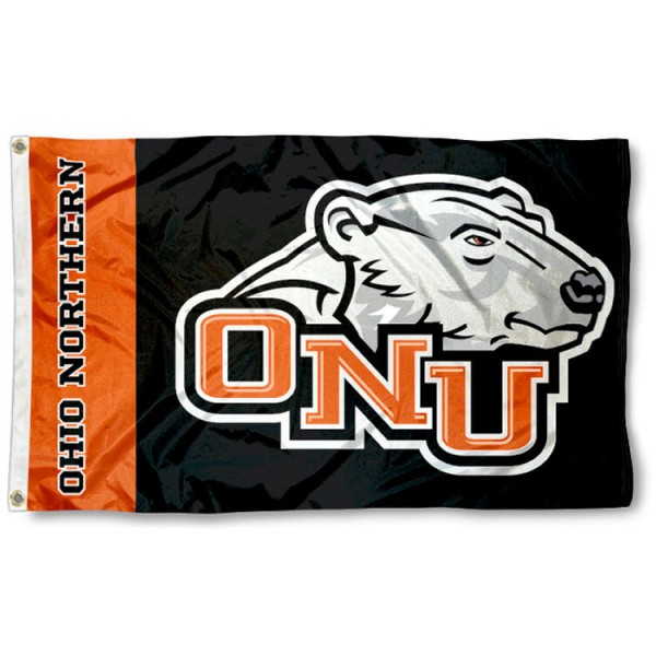 Ohio Northern 3x5 Flag is made of 100% nylon, offers quad stitched flyends, measures 3x5 feet, has two metal grommets, and is viewable from both side with the opposite side being a reverse image. Our Ohio Northern 3x5 Flag is officially licensed by the selected college and NCAA.