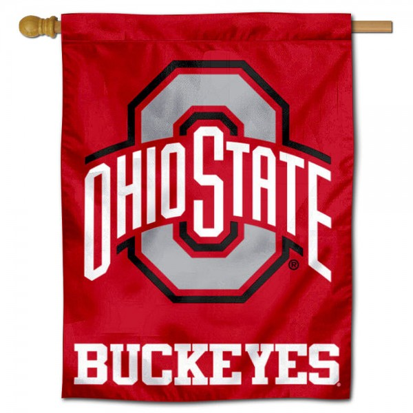 "Ohio State Buckeyes Athletic Logo Banner Flag is constructed of polyester material, is a vertical house flag, measures 30""x40"", offers screen printed athletic insignias, and has a top pole sleeve to hang vertically. Our Ohio State Buckeyes Athletic Logo Banner Flag is Officially Licensed by Ohio State Buckeyes and NCAA."