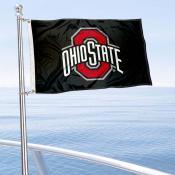 Ohio State Buckeyes Boat and Mini Flag