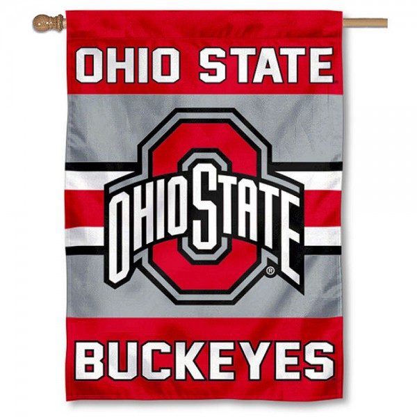Ohio State Buckeyes Double Sided Banner is a vertical house flag which measures 28x40 inches, is made of 2 ply 100% nylon, offers screen printed NCAA team insignias, and has a top pole sleeve to hang vertically. Our Ohio State Buckeyes Double Sided Banner is officially licensed by the selected university and the NCAA.