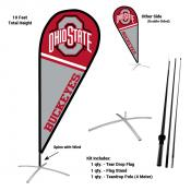 Ohio State Buckeyes Feather Flag Kit