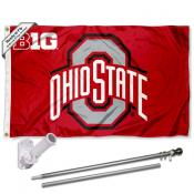 Ohio State Buckeyes Flag Pole and Bracket Kit
