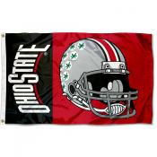 Ohio State Buckeyes Football Helmet Flag
