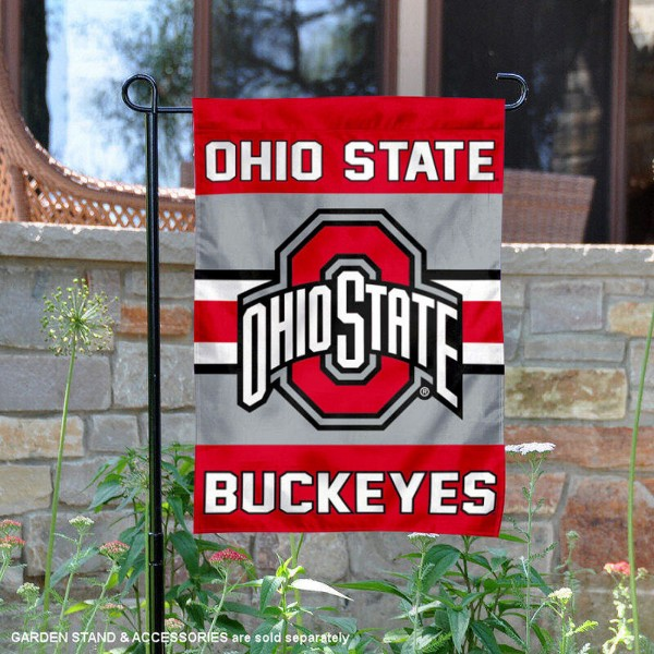 Ohio State Buckeyes Garden Flag is 13x18 inches in size, is made of 2-layer polyester, screen printed logos and lettering. Available with Same Day Express Shipping, Our Ohio State Buckeyes Garden Flag is officially licensed and approved by the NCAA.