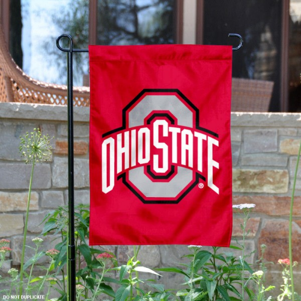 Ohio State Buckeyes Garden Flag is 13x18 inches in size, is made of 2-layer polyester, screen printed OSU Buckeyes athletic logos and lettering. Available with Same Day Express Shipping, Our Ohio State Buckeyes Garden Flag is officially licensed and approved by OSU and the NCAA.