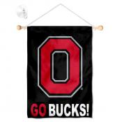 Ohio State Buckeyes Go Bucks Banner with Suction Cup