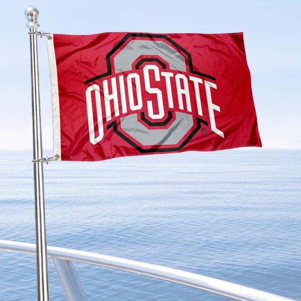 Ohio State Buckeyes Golf Cart Flag And Ohio State Logo